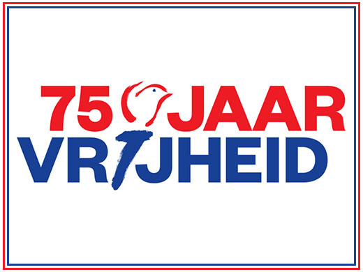 75 jaar vrijheid (logo)